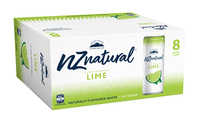 NZ Natural Sparkling Cans Lime 250ml (8 Pack) image