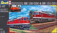 Revell - 1:87 Diesel Locomotives BR130/230 & BR131/231 Model Kit