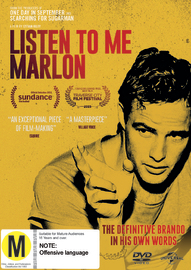 Listen To Me Marlon on DVD