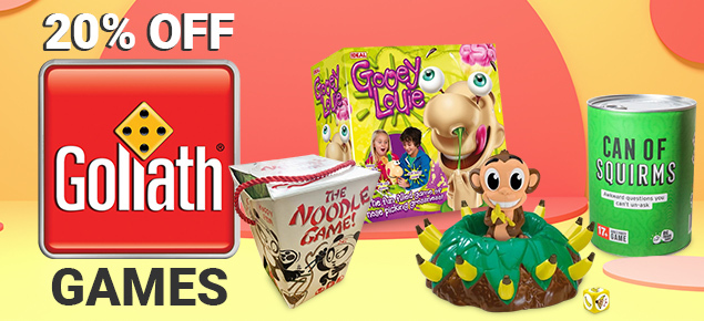 20% off Goliath Games!