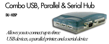 D-Link Combo USB, Parallel & Serial Hub