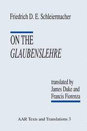 On the Glaubenslehre by Friedrich D. E. Schleiermacher image
