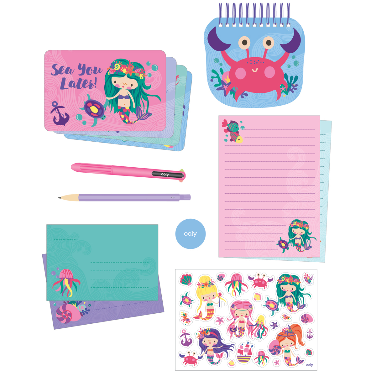 Magical Mermaids: On The Go - Stationery Kit image