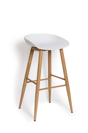 Metal Alpine Bar Stool (White)