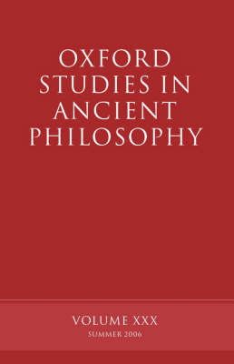 Oxford Studies in Ancient Philosophy XXX image