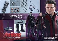 "Hot Toys Avengers 2 Hawkeye 12"" Figure image"