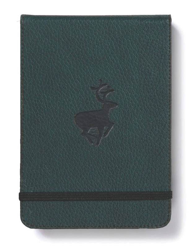 Dingbats Wildlife: A6 Green Deer Reporter Notebook - Dotted