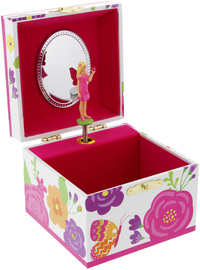 Pink Poppy Secret Garden Small Jewellery Box - Hot Pink