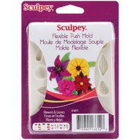 Sculpey Push Molds - Flowers & Leaves