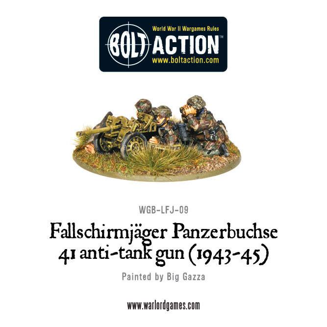 German Airborne - Fallschirmjager Panzerbuche 41 Anti-tank Gun image
