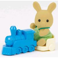 Sylvanian Families: Orcher Rabbit Baby with Train