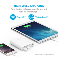 ANKER: PowerCore 13000mAh with 2x PowerIQ 2.4A ports - White image