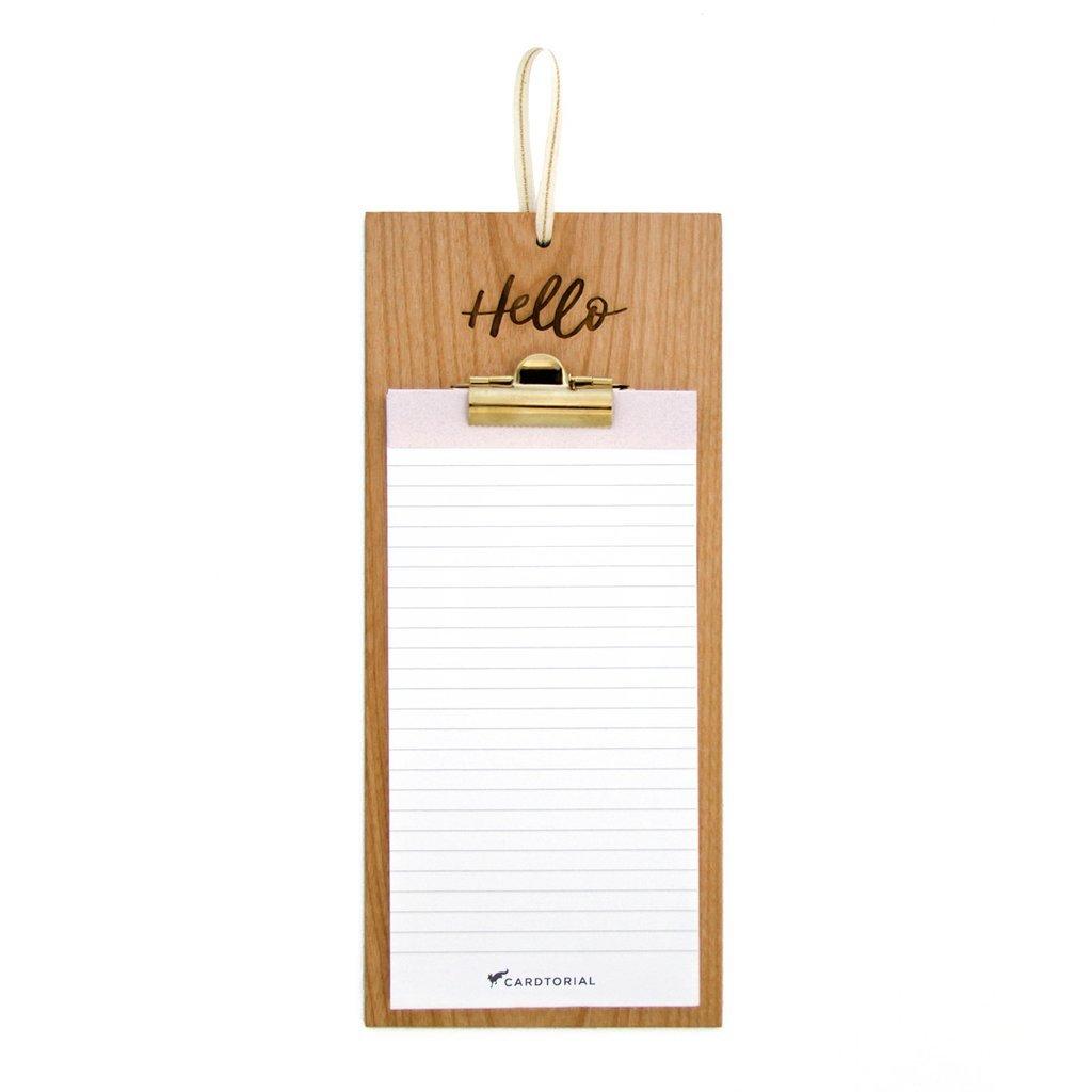 buy cardtorial wooden clipboard hello at mighty ape nz