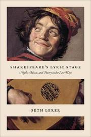 Shakespeare's Lyric Stage by Seth Lerer
