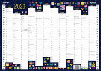 Milford: 2020 A3 Designer Wall Planner image