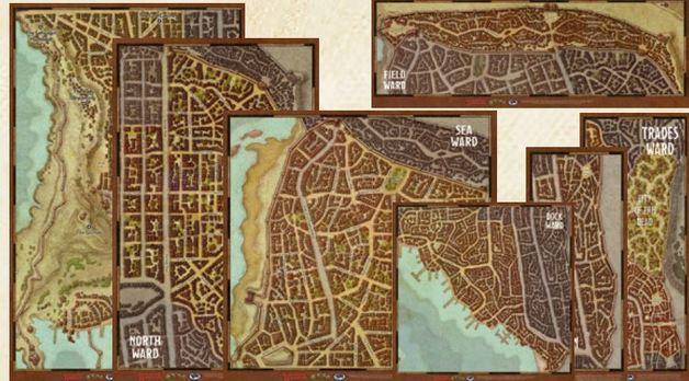 Waterdeep Dragon Heist - Waterdeep Wards Map Set (7 maps)