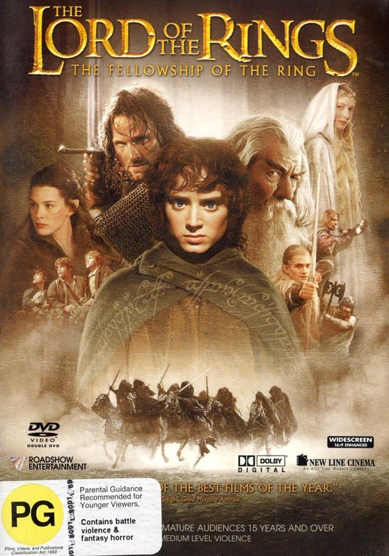 The Lord of the Rings - The Fellowship of the Ring on DVD
