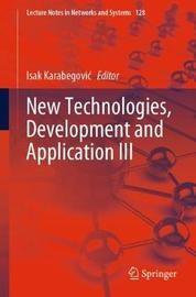 New Technologies, Development and Application III image