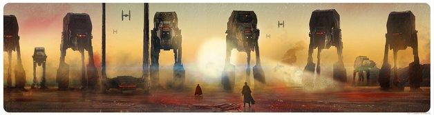 Star Wars: Crait Showdown by Rich Davies - Lithograph Art Print