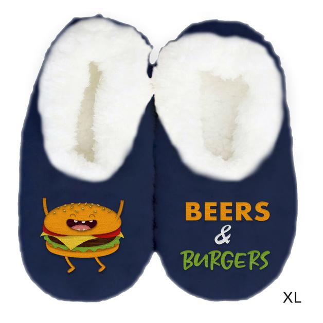 Sploshies: Men's Duo Slippers - Burger (X-Large)