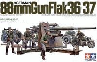 Tamiya German 88mm Gun Flak 36/37 with trailer 1:35 Model Kit