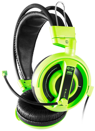 E-Blue Cobra-I gaming Headset with Microphone - Green Edition for PC Games