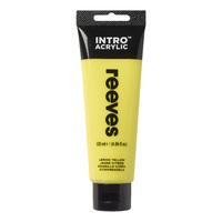 Reeves Intro Acrylic - Lemon Yellow (120ml)