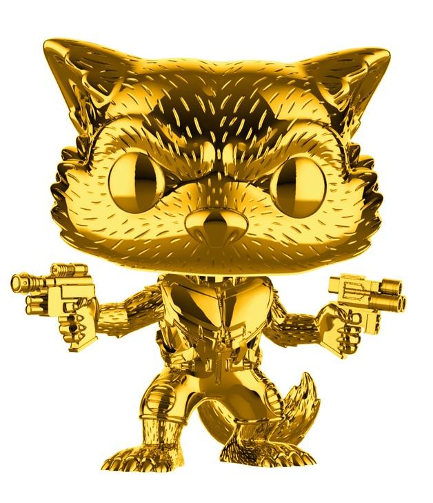 Marvel Studios - Rocket Raccoon (Gold Chrome) Pop! Vinyl Figure