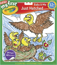 Crayola: My First Colour & Sticker Book Just Hatched image
