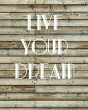 "Live Your Dream, Quote Inspiration Notebook, Dream Journal Diary, Dot Grid - Blank No Lined -Graph Paper, 8"" X 10,"" 120 Page by Mind Publisher"