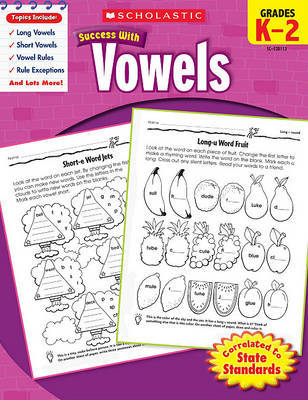 Scholastic Success with Vowels, Grades K-2 by Robin Wolfe image