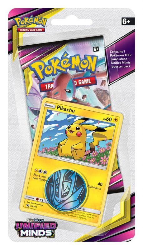 Pokemon TCG: Unified Minds Checklane Blister Pikachu