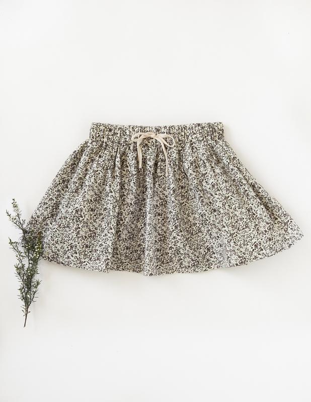 Karibou Kids: Dance and Play Cotton Skirt - Wildflower 4YRS