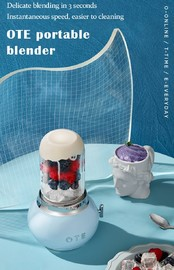 OTE Retro Style Electric Smoothie Blender - Blue
