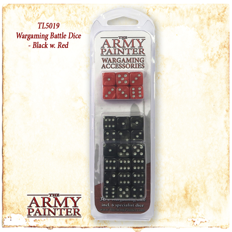 Army Painter Wargamer Dice: Black image
