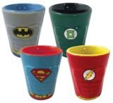 DC Comics: Heroes Ceramic Shot Glass Set - 4-Pack