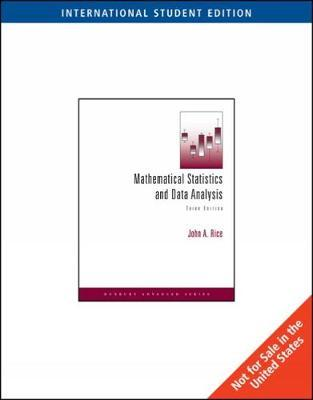 Mathematical Statistics and Data Analysis: With CD Data Sets by John Rice