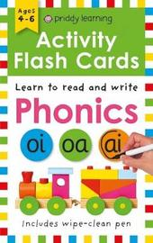 Activity Flash Cards Phonics by Roger Priddy