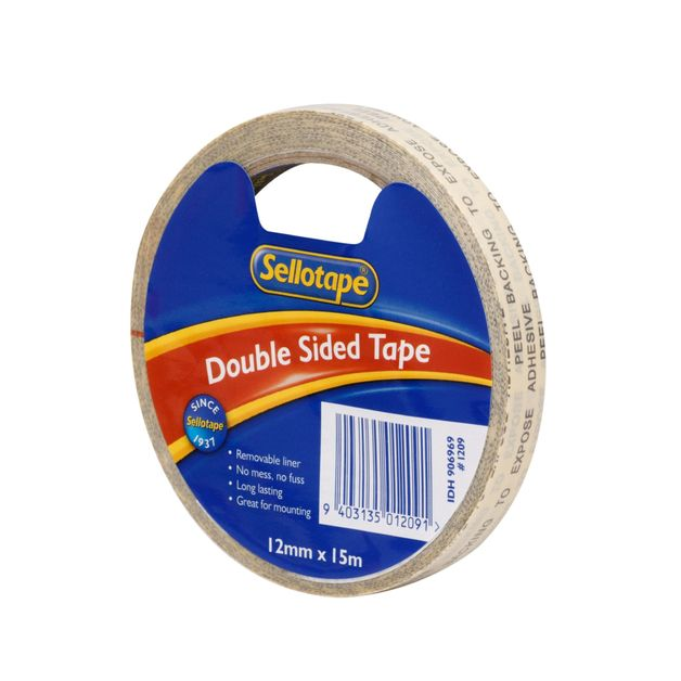 Sellotape: Double Sided Tape (12mmx15m)