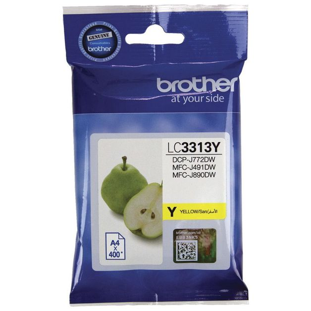 Brother LC-3313Y High Yield Ink Cartridge (Yellow)