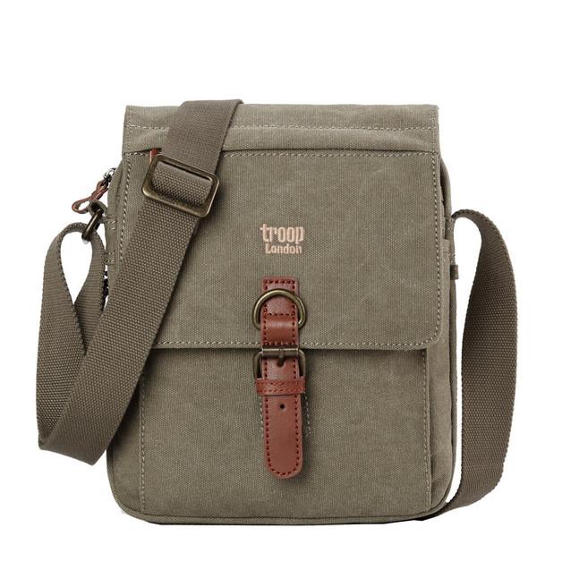 Troop London: Classic Shoulder Bag - Khaki