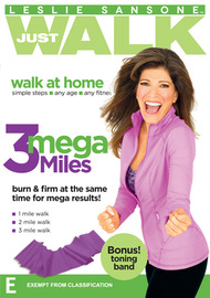 Leslie Sansone Just Walk: 3 Mega Miles on DVD