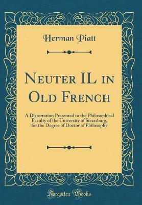 Neuter Il in Old French by Herman Piatt image