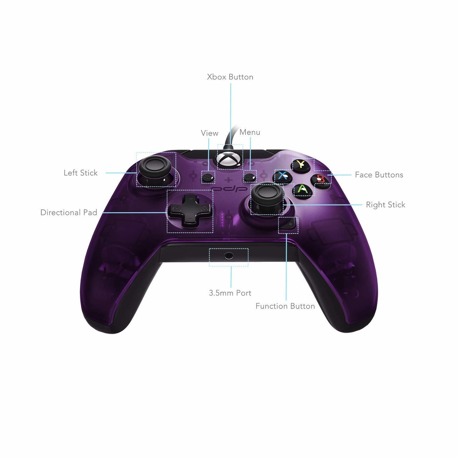 PDP Wired Controller for Xbox One - Purple