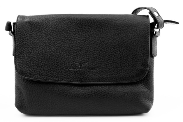 Urban Forest: Rosa Small Leather Handbag - Black