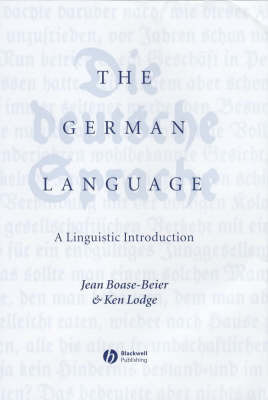 The German Language by Jean Boase-Beier
