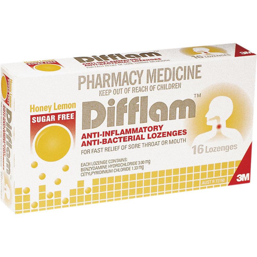 Difflam Lozenges - Sugarfree Lemon/Honey (16's) image