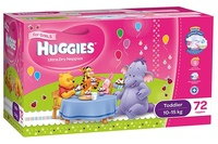 Huggies Ultra Dry Nappies: Jumbo Pack - Toddler Girl 10-15kg (72)