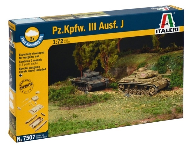 Italeri: 1/72 Pz. Kpfw. III - Fast Assembly Kit image