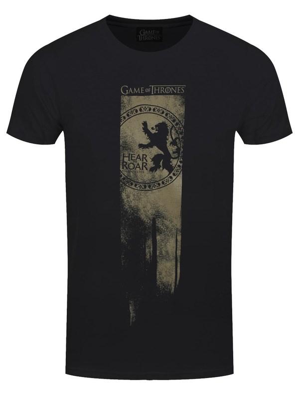 Game of Thrones: Lannister Flag - Hear Me Roar T Shirt (L)